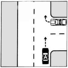 Road Rules -  T-Intersection Right of Way | Florida Practice Permit Test