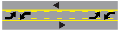 Center Lane | Indiana BMV Practice Test