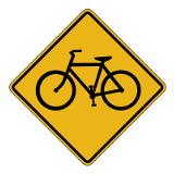 Bicycle Crossing Ahead