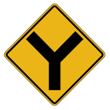 Warning Sign | Y Intersection