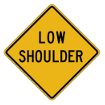New York Road Signs | Low Shoulder