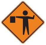 NYS Road Signs | Flagger Ahead