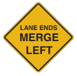 Tennessee Warning Road Signs | Right Lane Ends - Merge Left
